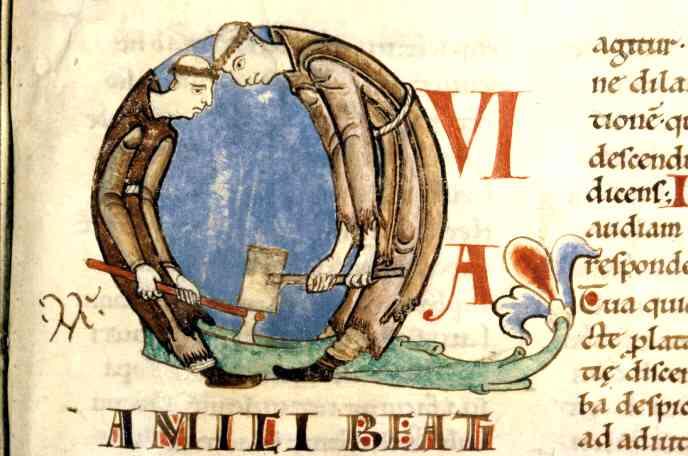 manuscrit citeaux moines au travail